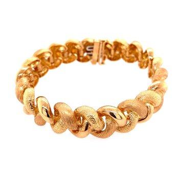 Chunky 18k Gold Textured Bracelet