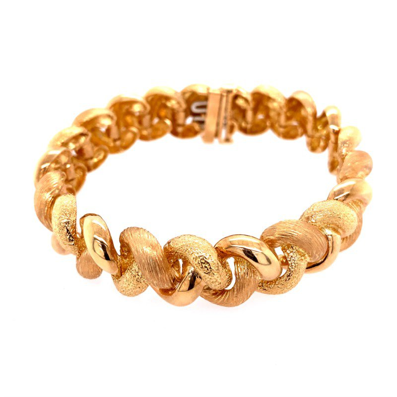 Perry's Estate Collection Chunky 18k Gold Textured Bracelet