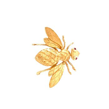 Vintage Bee Pin in Yellow Gold