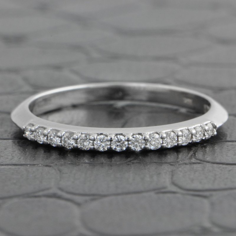 Pejay Creations Diamond Wedding Band in White Gold