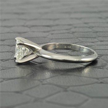 GIA 1.06 Carat E-VS2 Princess Cut Diamond Engagement Ring
