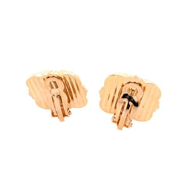 Domed Knot Clip On Earrings in Yellow Gold