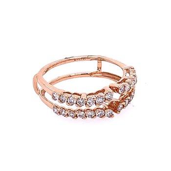 Rose Gold Diamond Ring Guard