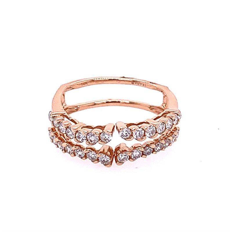 Royal Jewelry Rose Gold Diamond Ring Guard