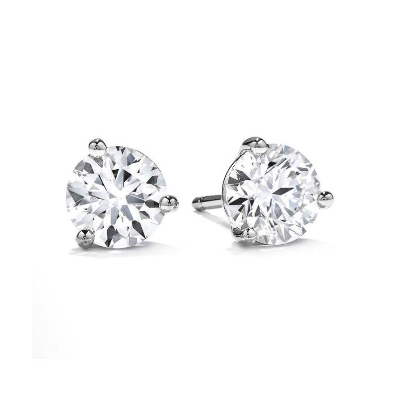Hearts On Fire .78 CTW Diamond Stud Earrings