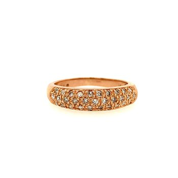 Diamond Band Ring in 14k Rose Gold