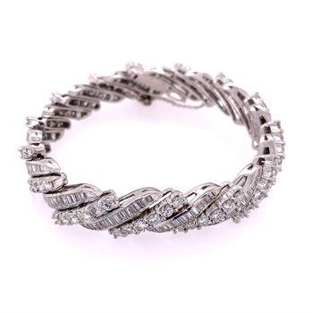 Vintage 1950s Platinum Diamond Bracelet