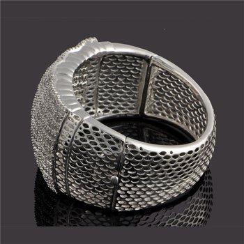Substantial Diamond Bangle in 18k White Gold