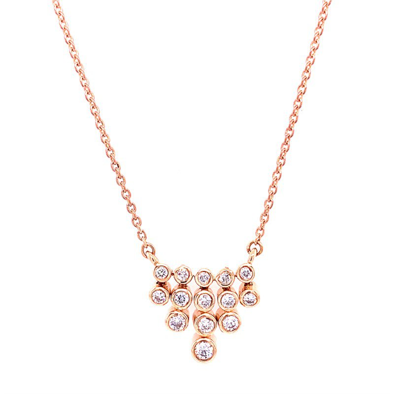 Royal Jewelry Diamond Necklace in Rose Gold