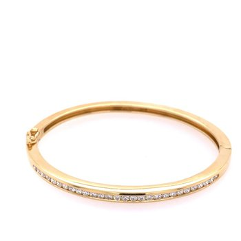 Tiffany & Co. Diamond Bangle in 18k Gold