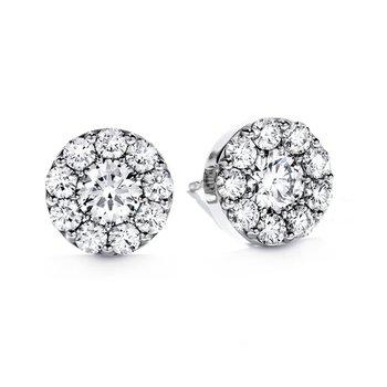 .51 CTW Diamond Fulfillment Stud Earrings in 18k White Gold