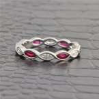 Beverley K Ruby and Diamond Eternity Band