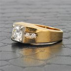 Perry's Estate Collection Mens 1.15 Carat Diamond Ring in Yellow Gold