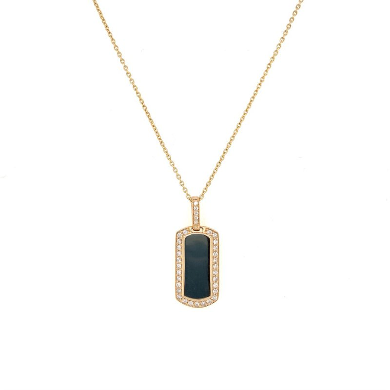 My Story Jewelry Diamond Tag Pendant in Yellow Gold