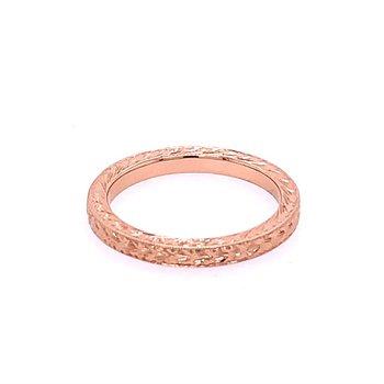 Carved Rose Gold Band
