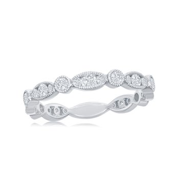 Diamond Band in 18k White Gold