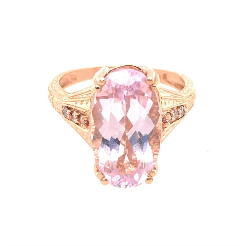 Perry's Estate Collection Kunzite and Diamond Ring in Rose Gold