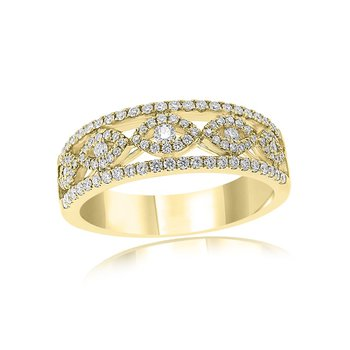 Open Work Diamond Band in 18k Gold
