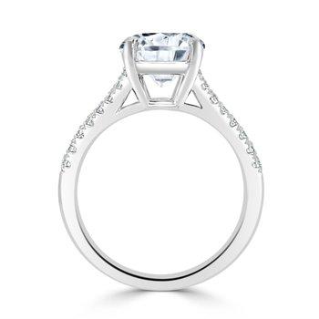 Semi Mount for Round Diamond in White Gold