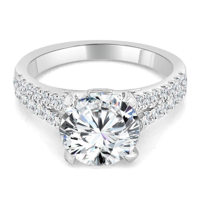Imagine Bridal Semi Mount for Round Diamond in White Gold