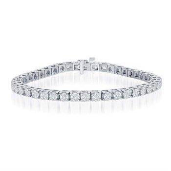 3.0 Carat Diamond Tennis Bracelet in White Gold