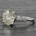 Perry's Estate Collection 5.29 Carat Round Brilliant Cut Diamond Engagement Ring in Platinum
