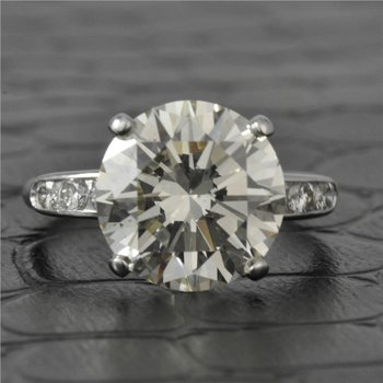 5.29 Carat Round Brilliant Cut Diamond Engagement Ring in Platinum
