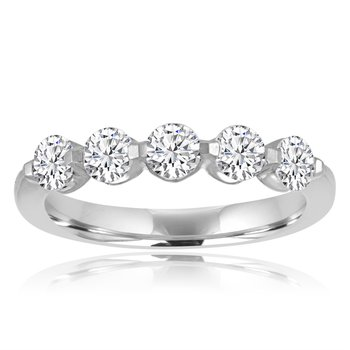 1.0 CTW DIamond Band in White Gold