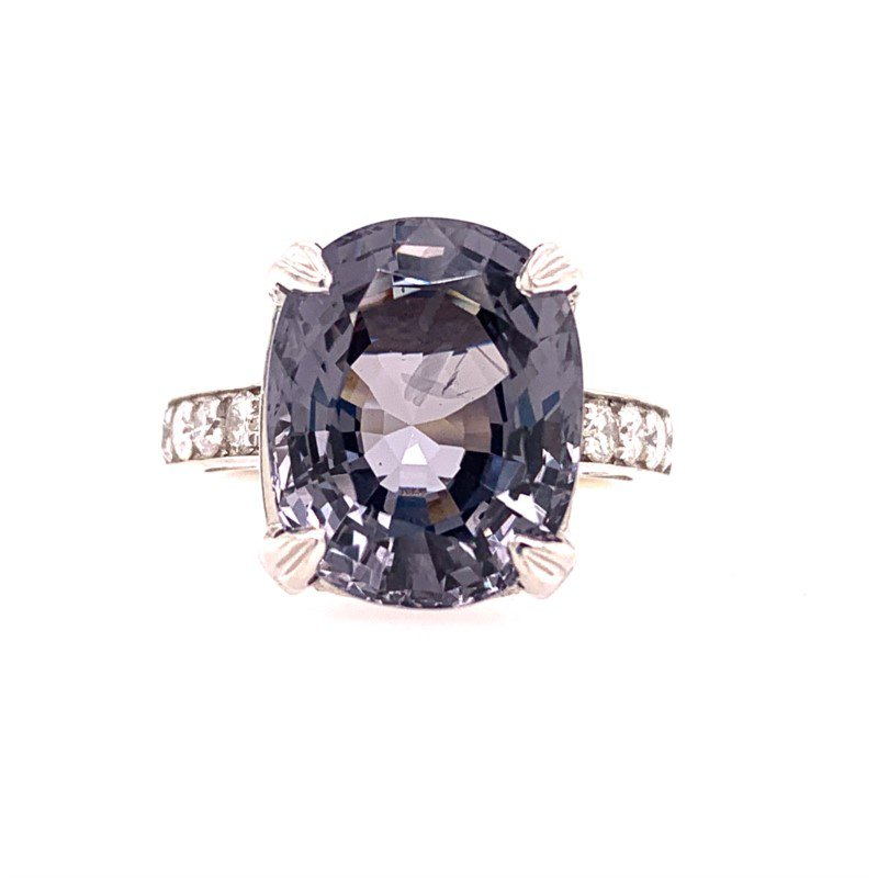 Perry's Estate Collection Lavendar Spinel and Dimaond Ring in White Gold
