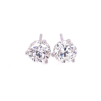 2.10 CTW Diamond Stud Earrings in White Gol