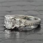 Perry's Estate Collection 1.04 Carat VS2-F Oval Cut Diamond Engagement Ring in Platinum