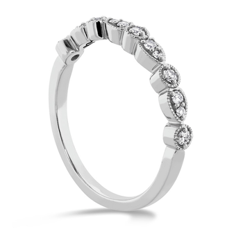ISABELLE TEARDROP MILGRAIN DIAMOND BAND