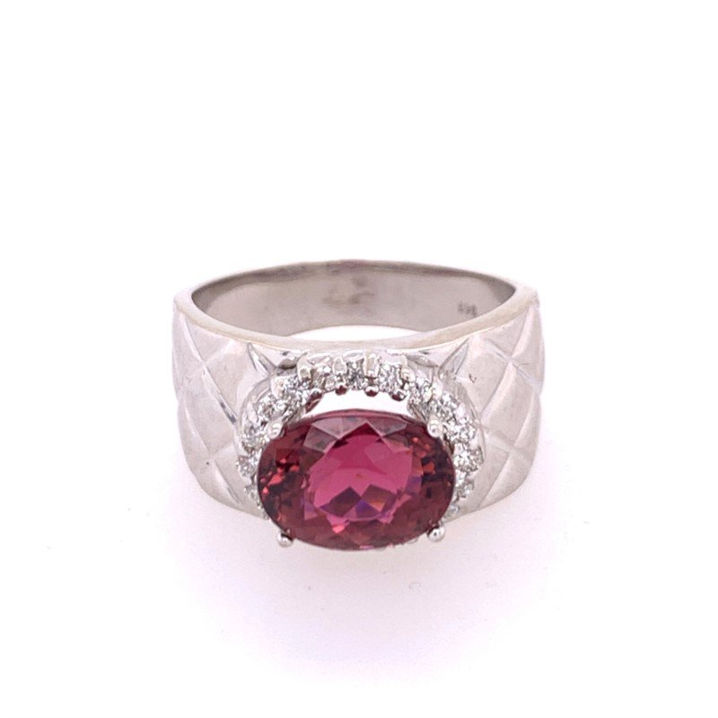Perry's Estate Collection Pink Tourmaline and Diamond Ring in White Gold