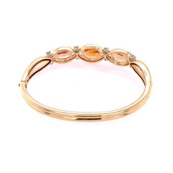 Golden Topaz and Diamond Bracelet in Yellow Gold