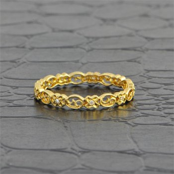 Yellow Gold Openwork Filigree Wedding Band