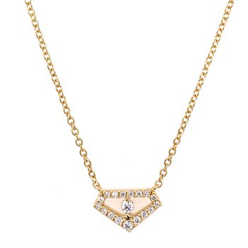 Geometric Diamond Necklace in 18k Gold