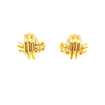 Tiffany & Co Signature X Earrings in Yellow Gold