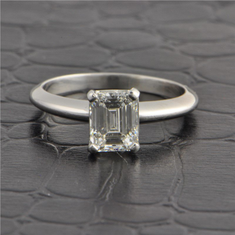 Perry's Estate Collection 1.23 Carat I-SI1 Emerald Cut Diamond Engagement Ring in Platinum
