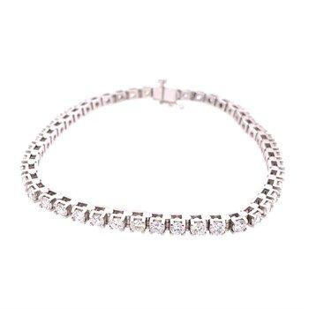 5.0 CTW Diamond Tennis Bracelet in White Gold