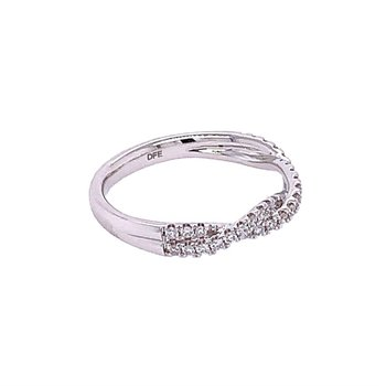 Braided Diamond Band in White Gold
