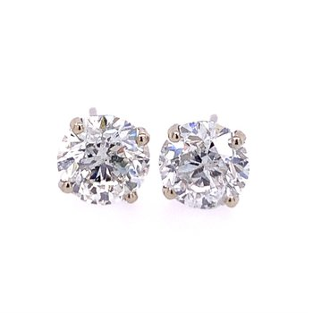 4.8 CTW Diamond Stud Earrings in White Gold