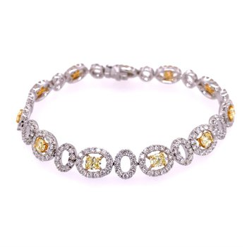 Fancy Yellow Diamond Bracelet in 18k Gold