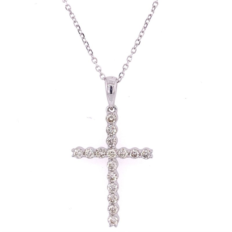 Wilkerson Jewelry Diamond Cross Pendant in White Gold