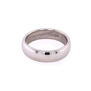 6 mm. Platinum Wedding Band by Tiffany & Co. Size 10