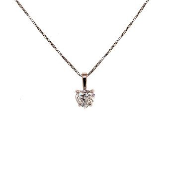0.50 Carat Heart Shape Diamond Solitaire Pendant