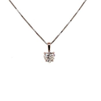 0.50 Carat Heart Shape Diamond Solitaire Pendant