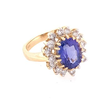 Tanzanite and Diamond Ring by Levian