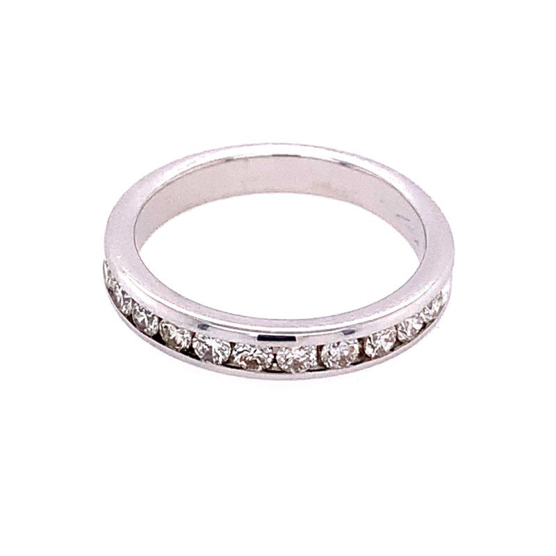 Perry's Estate Collection Channel Set Diamond Wedding Band in White Gold