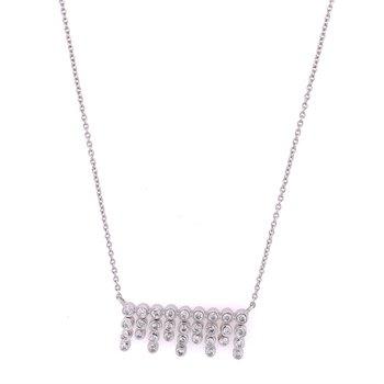 Dangle Diamond Pendant in White Gold