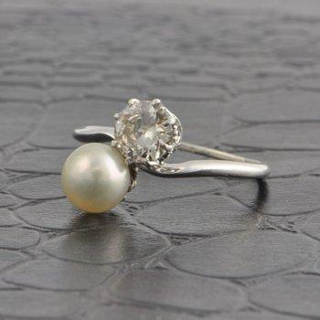"Vintage 1950s ""Toi et Moi"" Ring"